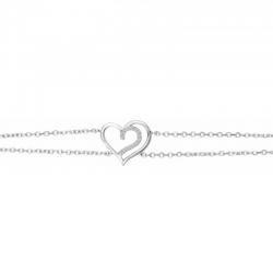 Bracelet Cœur Argent - ISA...