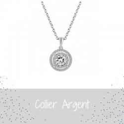 Collier Argent Femme - ISA...