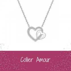 Collier Cœur Argent Femme -...