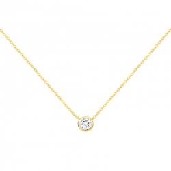 Collier Solitaire Femme -...