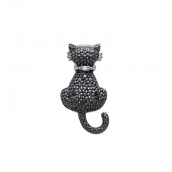 Pendentif Chat Argent - ISA...