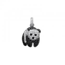 Pendentif Panda Argent -...