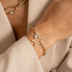 Bracelet Femme Star Acier...
